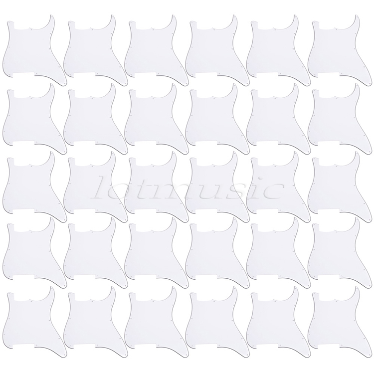 30*white 3ply Guitar Pickguard Blank/Outline Scratch Plate for Strat replacement 20pcs white pickguard 3ply pvc guitar scratch plate new for electric guitar replacement