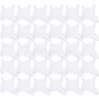 30*white 3ply Guitar Pickguard Blank/Outline Scratch Plate for Strat replacement
