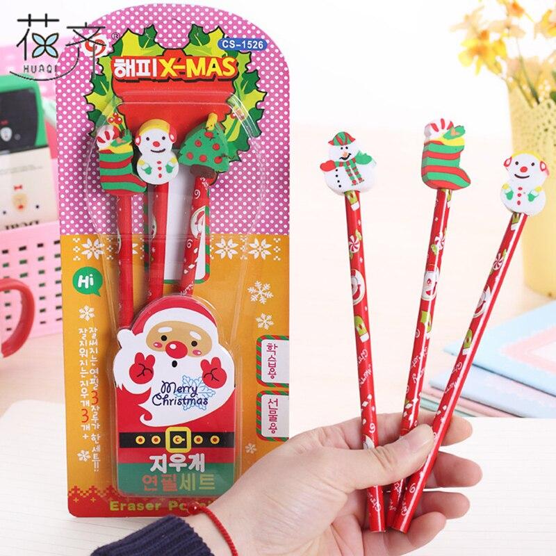Huaqi 1 Set Kawaii Merry Christmas Animal Series Wooden
