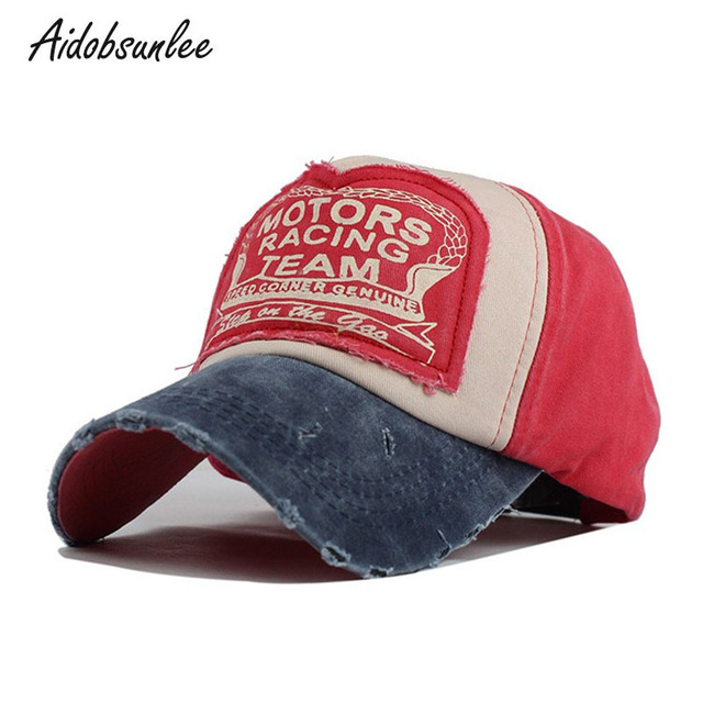 f0d7b42356 US $6.88 42% OFF|Baseball Cap Team Racing Motors Vintage Cap Cotton Trucker  Hats Outdoor Sport For Women Snapback Casual Men's Caps Dad Hats Bone-in ...