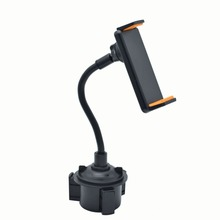 Car Vehicle Drinks Cup Holder Phone Mount 360 Rotatable Cradle with Longer Neck for 4 -10.5 inch Pho