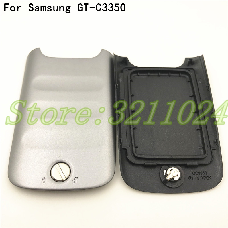 Top Quality Rear Housing Battery Door Cover Housing For Samsung Galaxy Xcover 2 GT-C3350 C3350 Phone Housing Door With Logo