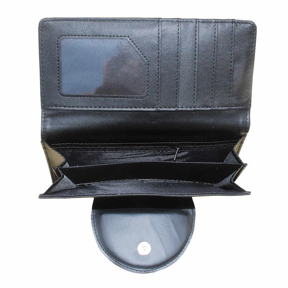 Кошмар перед Рождеством Аниме Длинный кошелек для женщин и мужчин череп кошелек Джек Скеллингтон тонкий кошелек телефон карман деньги сумка