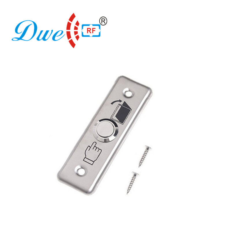 DWE CC RF Door Exit Button Stainless Steel Push RFID Release Switch For Access Control System DW-B04A dwe cc rf access control kits aluminum alloy silver door open push release switch with key