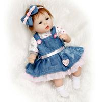 42cm Silicone Reborn Doll Baby Girls Princess Adorable Lifelike Toddler Kids Toy Children Birthday Gift Bebes Reborn lol Dolls