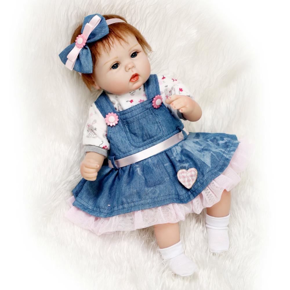 42cm Silicone Reborn poupée bébé filles princesse Adorable réaliste enfant en bas âge jouet enfants cadeau d'anniversaire Bebes Reborn lol poupées