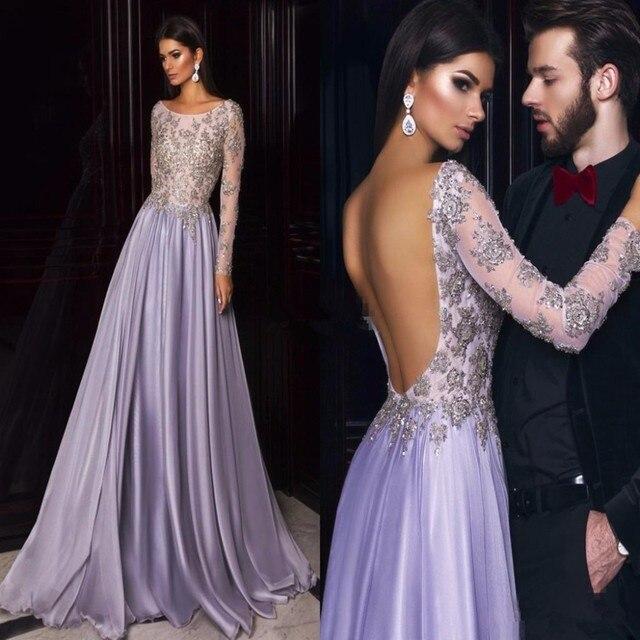 Elegant Elie Saab Long Sleeve Evening Dresses On Sale 2017 Scoop ...