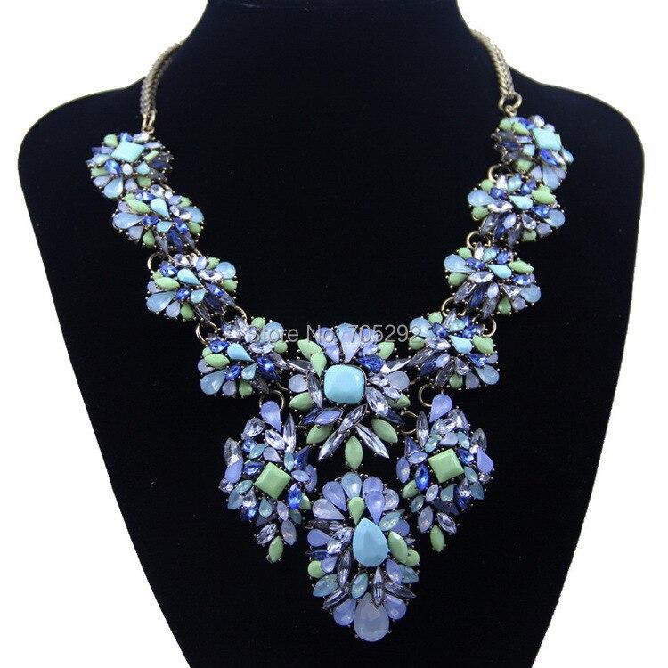 7085b5df72 Venta caliente marca Crystal hojas resina Colgantes gargantilla collar  declaración de la joyería para las mujeres