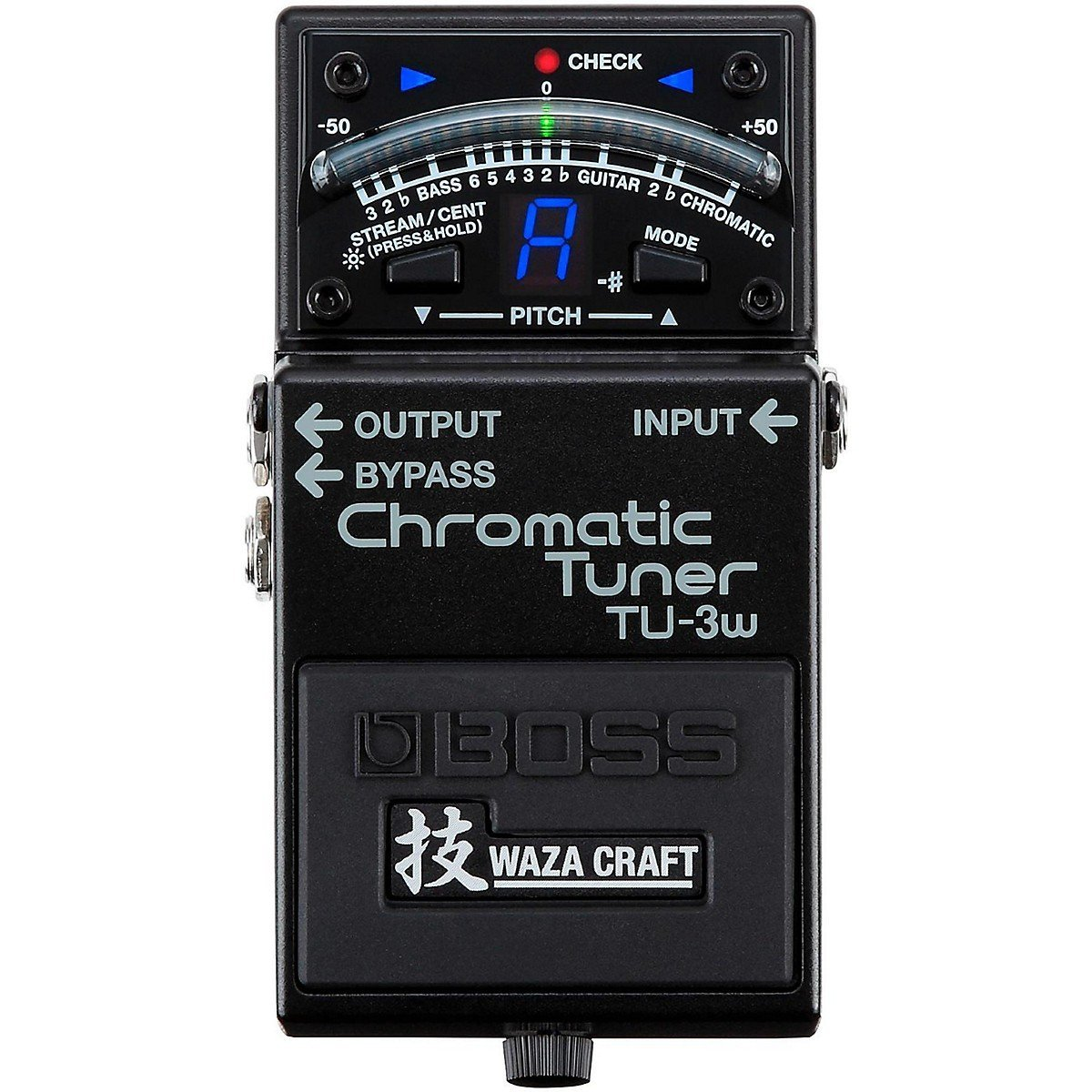 Boss TU-3W Waza Craft Chromatic Tuner with Bypass Guitar and Bass Tuner Pedal гитарный тюнер boss tu 3w