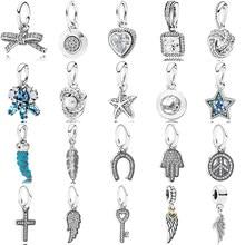 6d416ca8487d Nuevo Vintage joyería de perlas de flor de plata esterlina 925 Chile cadena  brillante Zircon Bow colgante de las mujeres encanto.