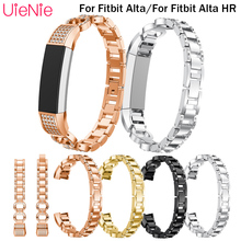 Steel strip For Fitbit Alta smart watch frontier/classic replacement strap For Fitbit Alta HR wrist wristband accessories band silicone band for fitbit alta watch band soft strap small large size replacement wristband for fitbit alta hr smart watch