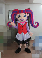 export high quality princess strawberry girl mascot costume head with fan and helmet