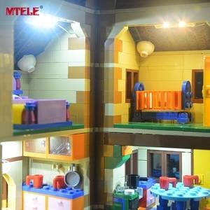 Image 4 - MTELE led ışık kiti 71006 Simpson evi ışık seti ile uyumlu 16005 (dahil değil Model)