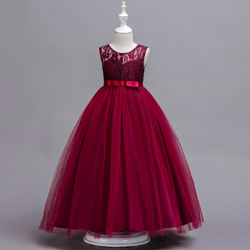Sweet Floral Lace   Flower     Girl     Dresses   with Ruffle 2019 Sleeveless Ball Gown Tulle Ball Gown Fluffy   Girls     Dresses   Communion   Dress