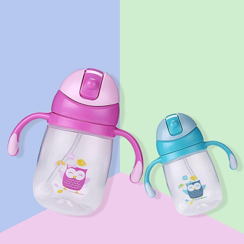 US $7 48 30% OFF Baby Cute Owl Training Cups BPA Free Healthy Bottle Child  Leak Proof Double Handle Bottle Kid Water Feeding Learn Drinker T0700-in