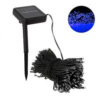 22m 200 LED Solar Lights Waterproof Fairy Light For Christmas Wedding Decoration With Solar Panel Blue