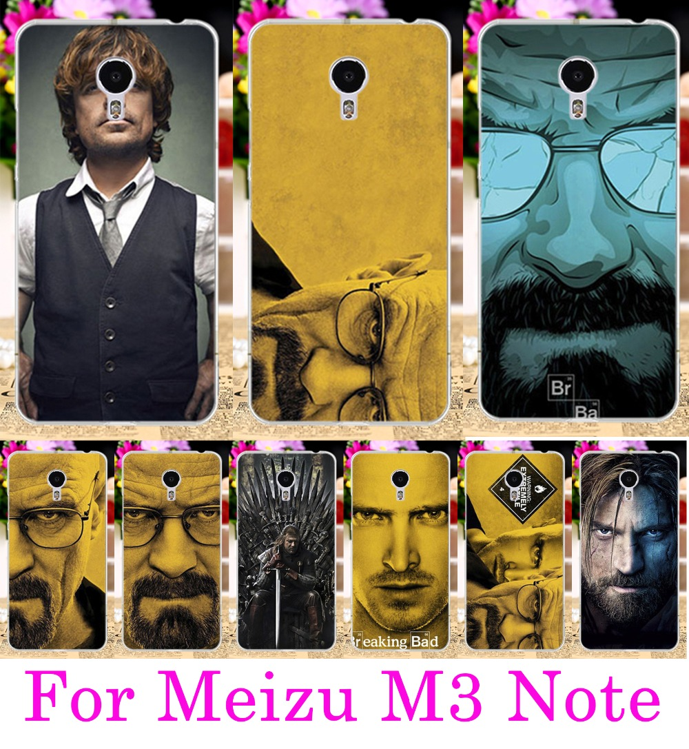 Soft TPU Hard PC Phone Cases For Meizu M3 Note Shell Meilan Note 3 Meilan Note3 5.5 Cover Cool TV Breaking Bad Walter White Case ...