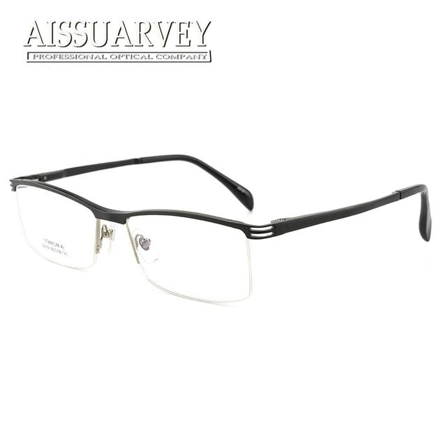 Aliexpress.com : Buy Men Glasses Frames Titanium Aluminum Half Rim ...