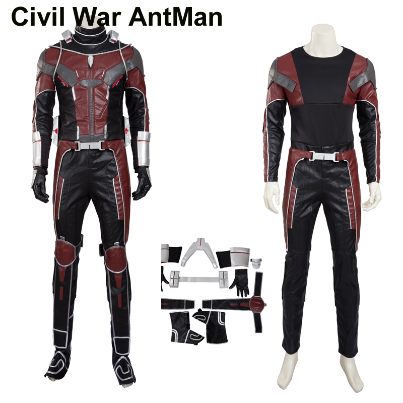 Hero Catcher High Quality Upgraded Civil War Antman Cosplay Costume Set Newest Antman Costume Hero Antman Suit With Accessory
