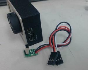 Image 2 - Clownfish dla Gopro Hero 3 3 + 4 akcesoria do kamer w ruchu FPV Mini USB wideo w czasie rzeczywistym kabel wyjściowy Gopro kabel av, TL68A00 Tarot