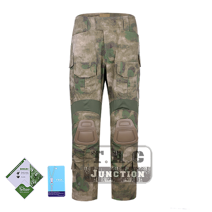 Tactical Emerson New BDU G3 Combat Pants Emersongear CP Style Battlefield Trousers Assault Uniform w/ Knee Pads A-Tacs Green a tacs fg military uniform combat a tacs uniform bdu military uniform for hunting wargame coat pants