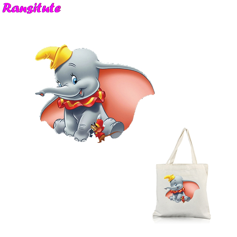 Ransitute R316 Dumbo Series 4 Clothing Printing Thermal Transfer T-shirt Applique Backpack Patch Washable Heat Transfer