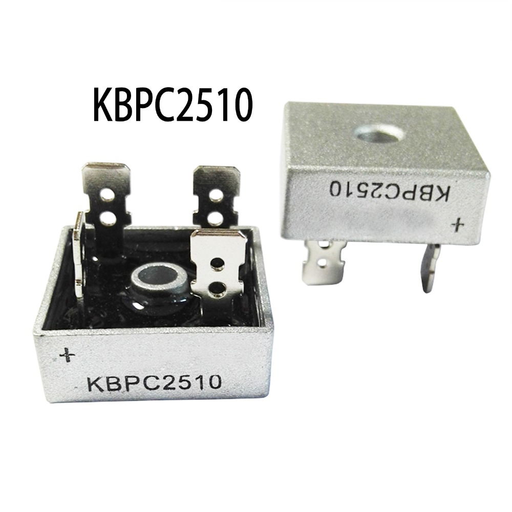 1PCS KBPC2510 2510 25A 1000V Phases Diode Bridge Rectifier New And Original