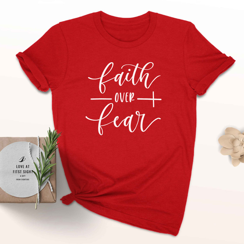 Faith Over Fear Christian T-Shirt 16