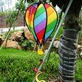 Biruta listrado Do Arco do Balão de Ar Quente Vento Spinner Jardim Quintal decoração Brinquedo Girador Do Vento de Cauda Para A Decoração Do Jardim Ao Ar Livre Garoto brinquedo