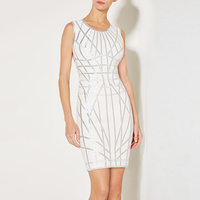 New Bandage Dress Stretch Tight Fashion Casual Celebrity Cocktail Party Bandage Dress H1818
