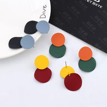 Fashion Trendy Stud Earrings for Women 2019 Cute Simple Colorful Candy Color Round Earrings Cheap Wholesale Women's Jewelry Gift(China)