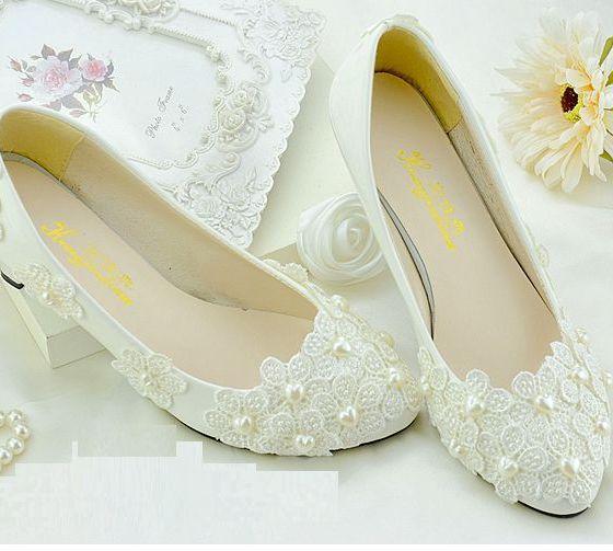 wedopus new style open toe bridal ivory satin wedding shoes mid heel