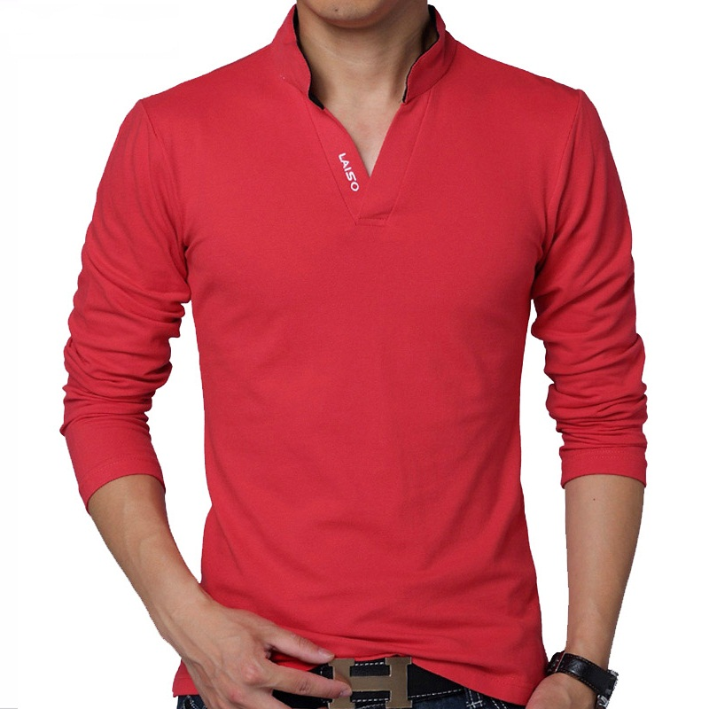 HOT-SELL-2016-New-Fashion-Brand-Men-Clothes-Solid-Color-Long-Sleeve-Slim-Fit-T-Shirt