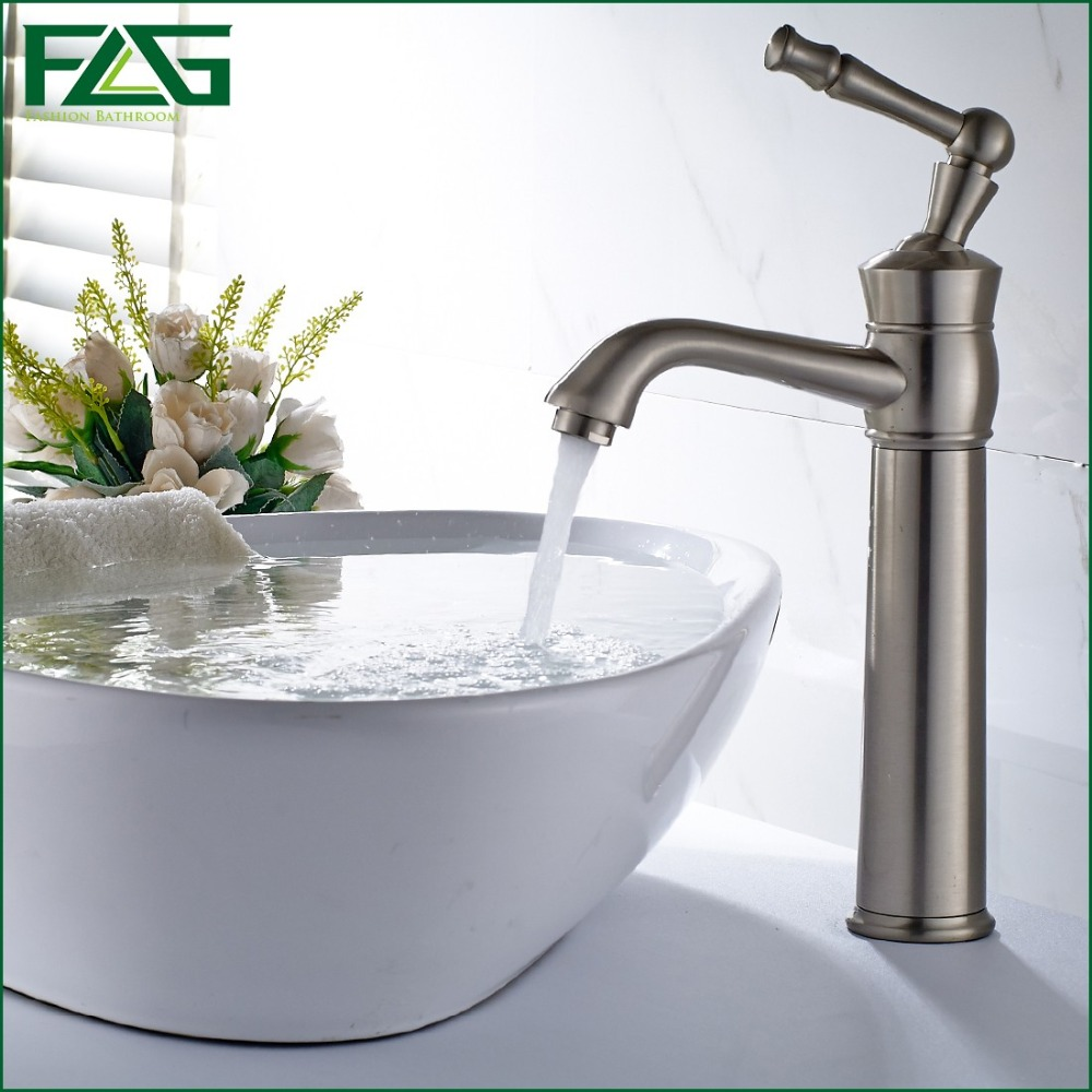 FLG European Nordic Retro Bath Mat Bathroom Faucet Brushed Nickel ...