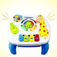 Educational Toys Kids Multifunctional Learning Desk Giraffe LED Light Music Babies Music Instruments for Kids
