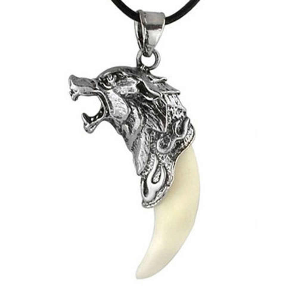New Man Wolf Tooth Necklace Titanium Steel Domineering Pendant Jewelry Fangtooth Amulet Pendant Necklace