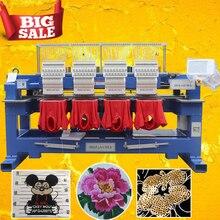 400*450 мм промышленная вышивальная машина 4 головки вышивка машинный колпачок/футболка/плоская вышивальная машинка со встроенным компьютером в Китае
