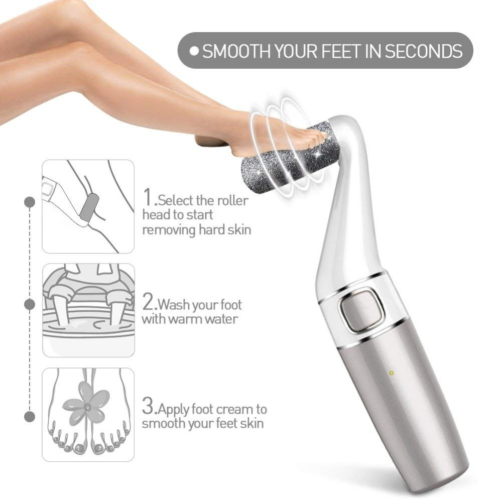Destone FeetCare 7 Electronic File for Heels Pedicure Tools 1200mAh Rechargeable Electronic Callus Remove Feet Cleaner 2 Speeds in Personal Care Appliance Accessories from Home Appliances