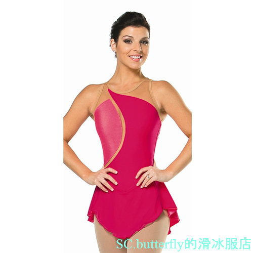 figure skating clothes for performance child figure skating clothes free shipping red color skating custom