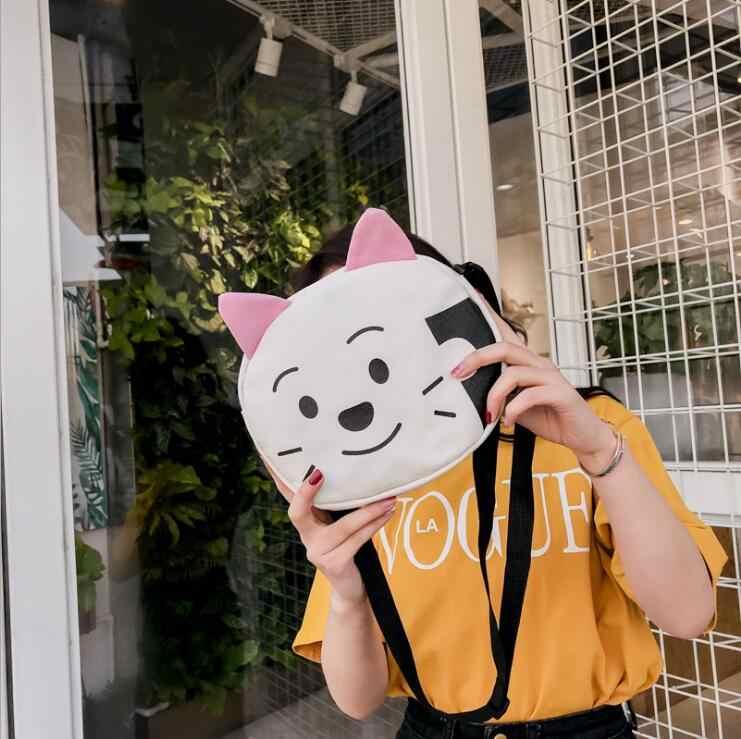 Mini saco de ombro da lona Bolsa/Carteira bolsa de ombro impresso para Meninas kawaii pequeno ombro Bolsa/Carteira phoneWomen execução Sacos