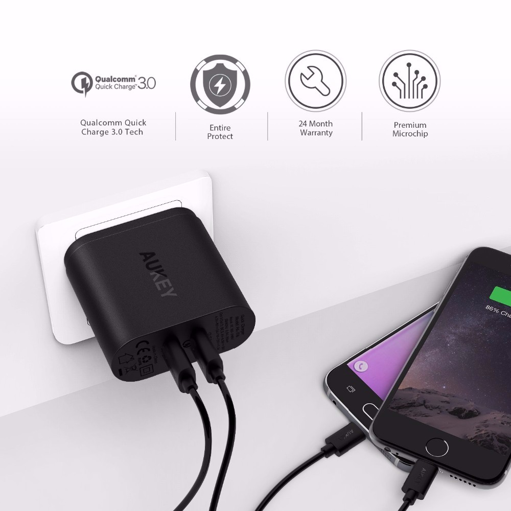 AUKEY-2-USB-Charger-Travel-Fast-Charging-With-Quick-Charge-3-0-for-Samsung-Galaxy-S7 (1)