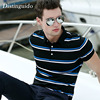 Hot Sell Summer Men S Short Sleeve T Shirt Turn Down Collar Breathable Adult Shirt For