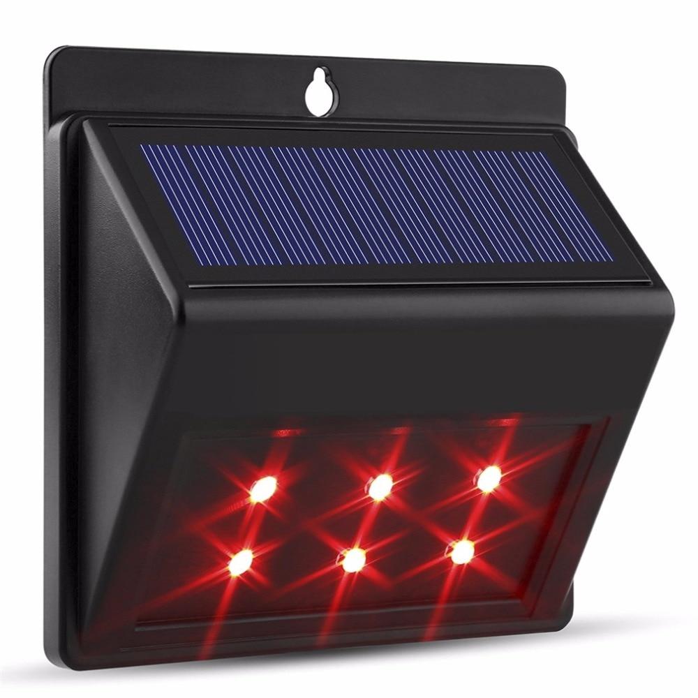 2017 6 LEDs Solar Light Auto Motion Sensor Outdoor Waterproof Garden Lamps Pathway Light Energy Saving