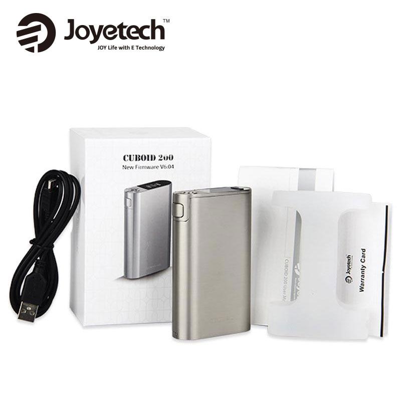 New Joyetech Cuboid 200W TC MOD Electronic Cigarette Mod VW/VT/TCR Modes Joyetech CUBOID 200 w NO 18650 Battery 100% Original original 200w hugo vapor hugo133 tc box mod tcr settings