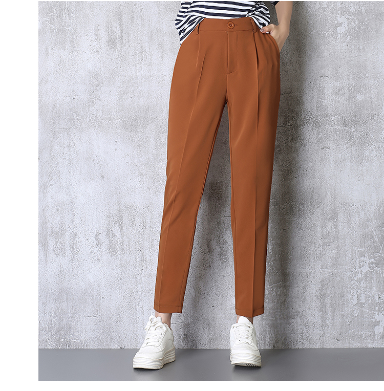 Hot Sale Harem Pants Women 19 Summer Autumn Pants Casual OL Pants Elastic High Waist Slim Work Pants Plus Size 3XL Trousers 5