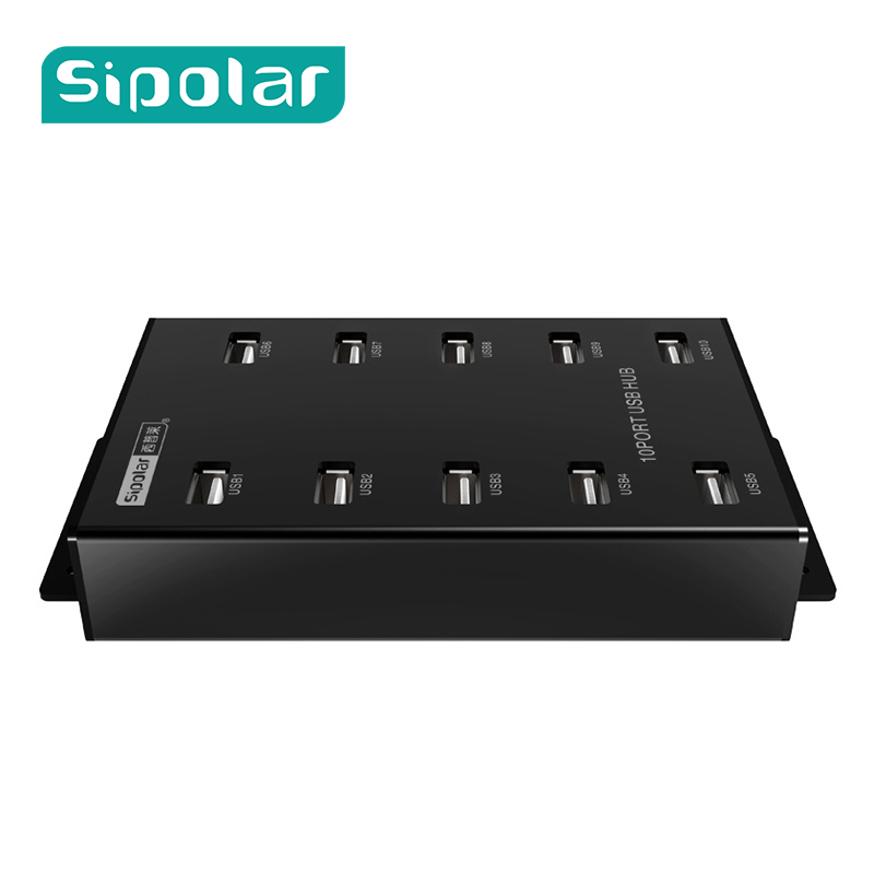 Sipolar 10 ports Industrial USB HUB Bitcoin Miner USB Cryptocurrency Miner With 12V5A Power Adapter Syncs