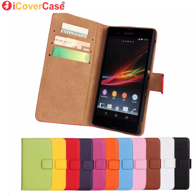 iCover Cover Cases for Sony Xperia L1 J ST26i M C1905 E C1605 T Lt30P V Lt25i T3 M4 Aqua L S36h Case Flip Genuine Leather Coque