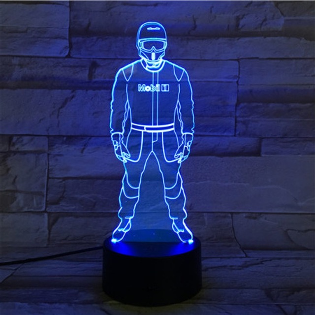 VCity Night Light Luminaria Led Light Flashlight F1 Car Driver 3D Lamp Bedroom Decor Gifts for Kids Children Led Lighting