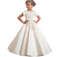 1e58603e12 2019 Summer Teenager Formal Kids Dresses For Girls Bridesmaid Princess Long  Evening Dress Girl Party Wedding