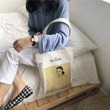 Women Solid reusable Canvas Shoulder Bags Shopping Bag Tote Package Crossbody Bags Casual Cotton Handbag For Women Bookbag